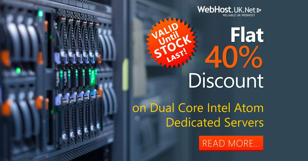 WebhostUK LTD: Managed Dedicated Server at £60GBP with Free Control