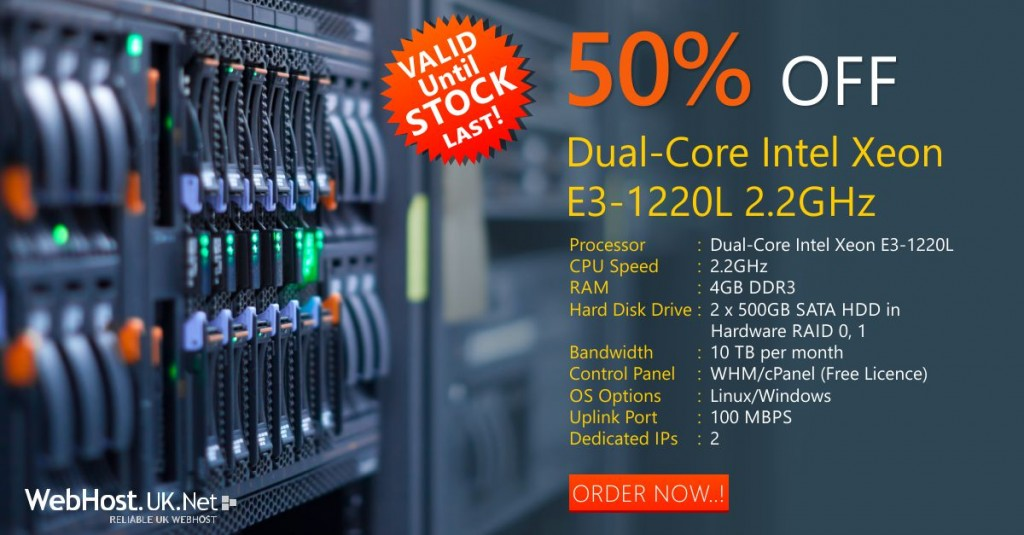 UK Dedicated Server Offer
