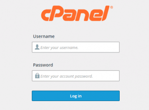 login to cPanel