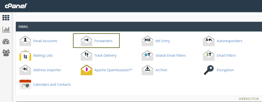 Create an Email Forwarder in cPanel and Webmail