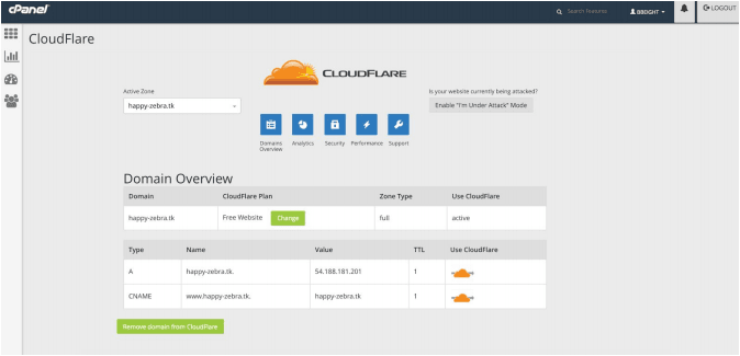Enable CloudFlare for subdomains
