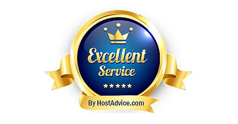 WebHost.UK.Net - Excellent Service Award from HostAdvice