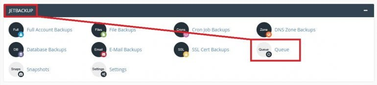 JetBackup – Restore my account from CPANEL