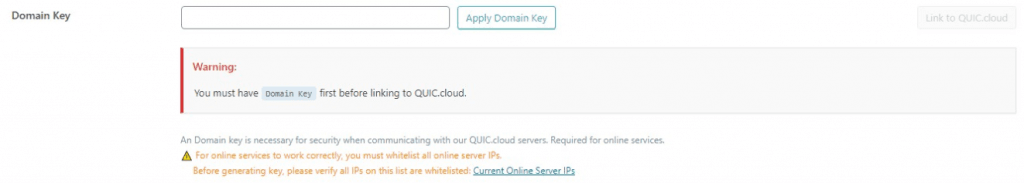 Pairing WordPress and QUIC.cloud